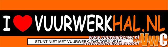 Bumpersticker Rijswijkse Vuurwerkhal by de Vuurwerkjunk in Member's Categories